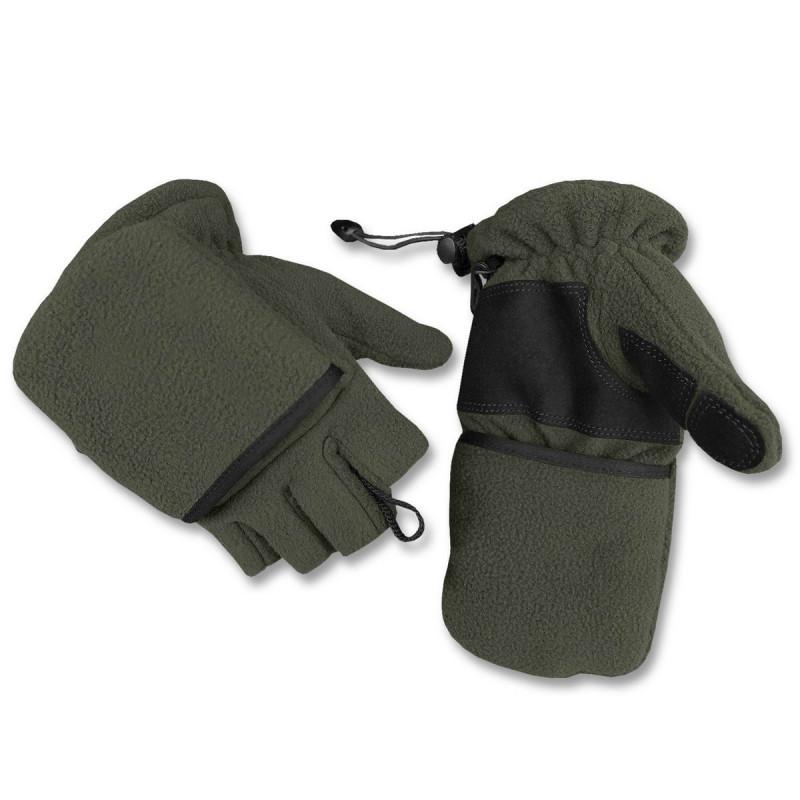 Mil-tec fleece preklopne rukavice | zelene