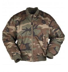 Mil-tec US MA1 FLY Woodland jakna