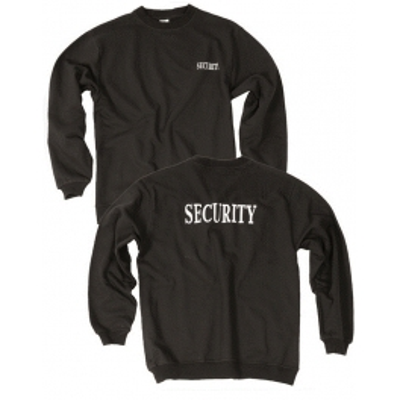 Mil-tec Black Security majica dugi rukav | crna