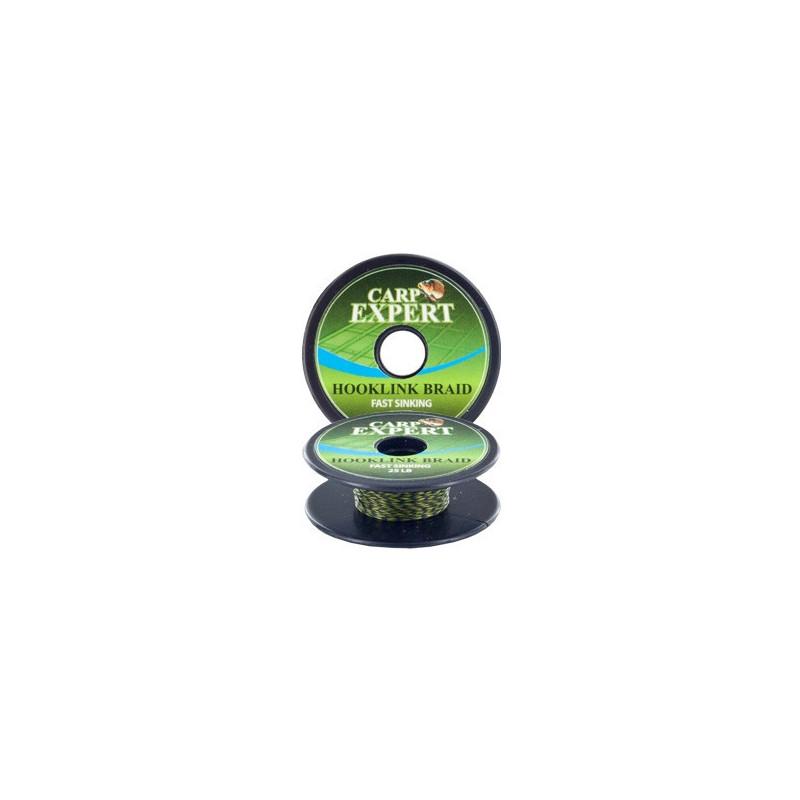 Carp Expert Hooklink fast sinking upredenica 10m   camou green