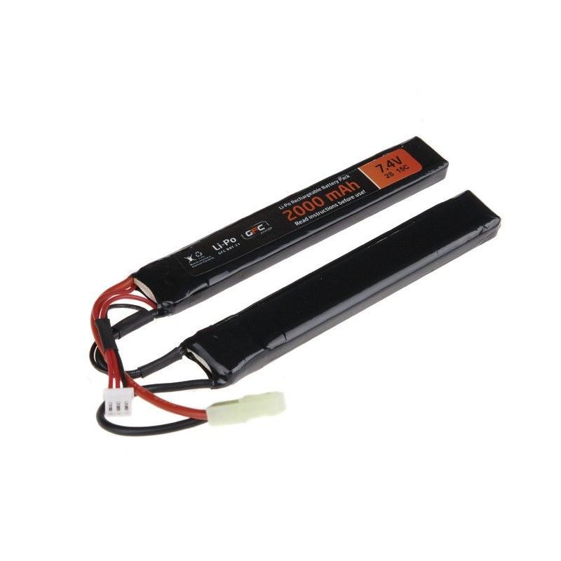 GFC Energy LiPo 7.4V 2000mAh 15/30C two-module airsoft baterija