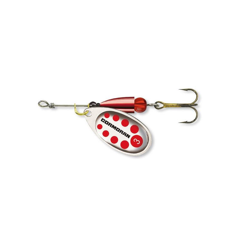 Cormoran Bullet srebrna/crvene točkice varalica