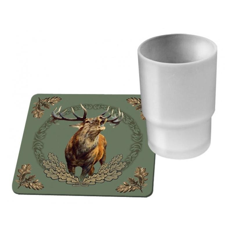 Wildzone Podmetači za čaše 10x10cm | motiv jelen