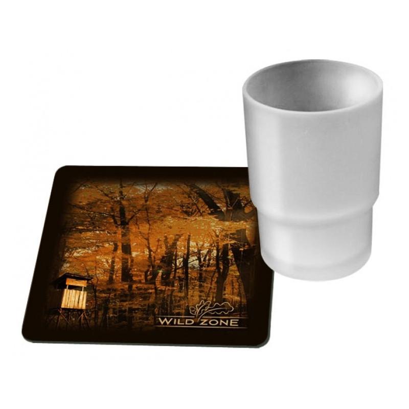 Wildzone Podmetači za čaše 10x10cm | motiv čeka