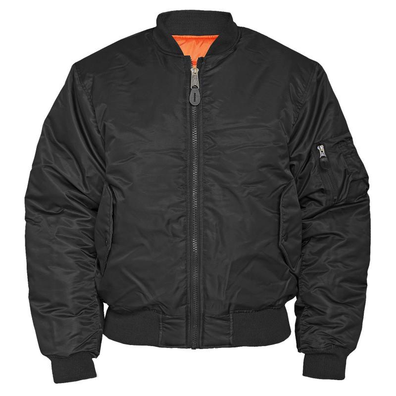 Mil-tec US MA1® STYLE Flight jakna   crna