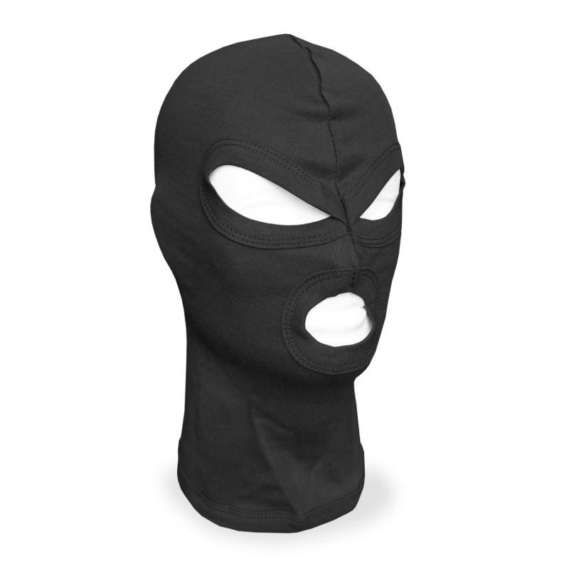 Mil-tec Co maska / fantomka 3 otvora kapa | crna