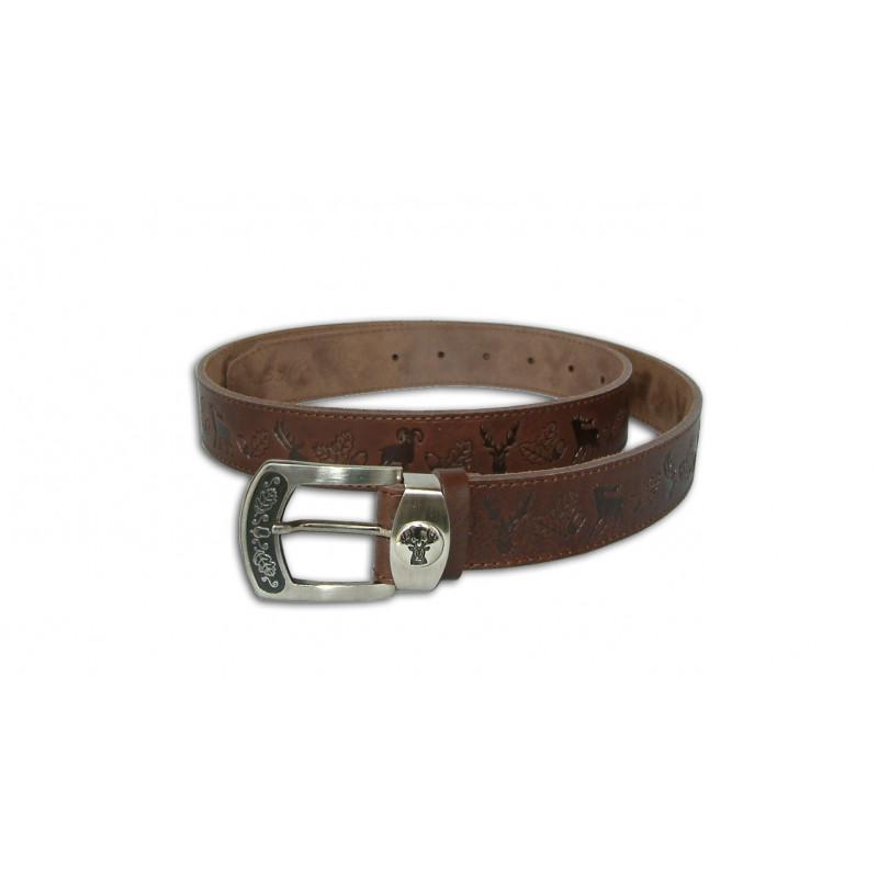 Acorn Kožni lovački smeđi remen za hlače | 4/130cm
