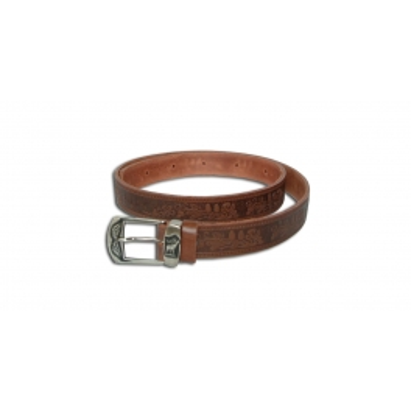 Acorn Kožni lovački smeđi remen za hlače | 3/130cm
