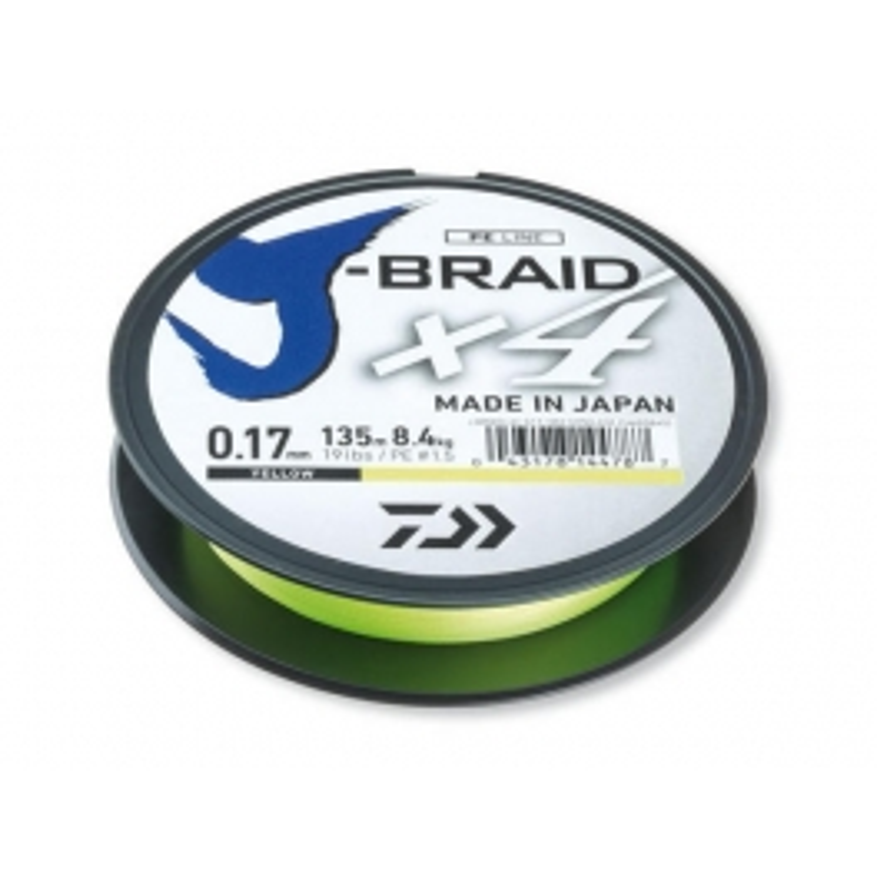 Daiwa J-Braid X4 upredenica | žuta